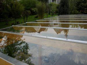 Terrassendach Leimholz mit Glasdach