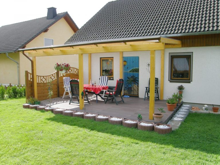 Terrassendach Leimholz