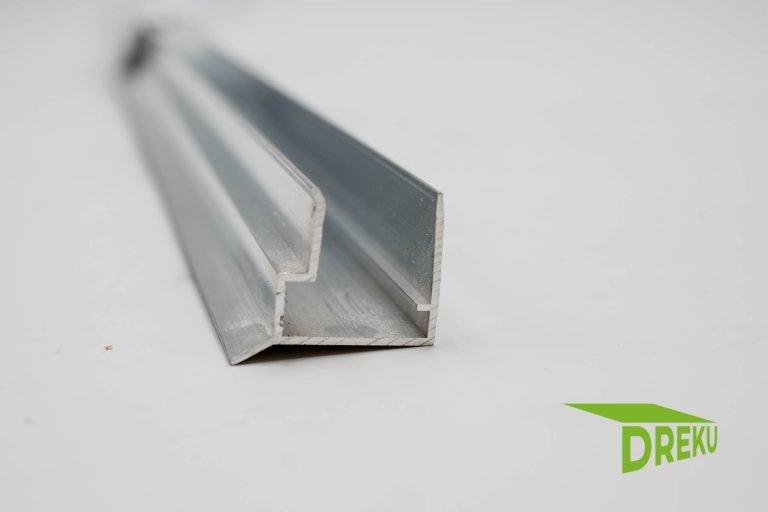 Aluminium Abschlussprofil 16 mm mit Tropfnase