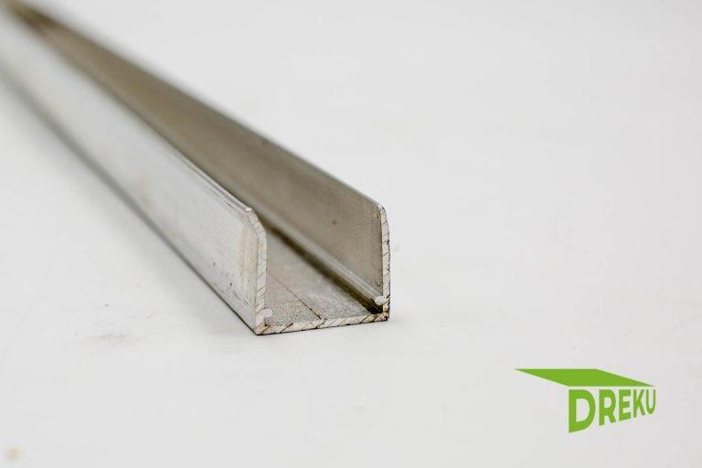 Aluminium Abschlussprofil 16 mm ohne Tropfnase