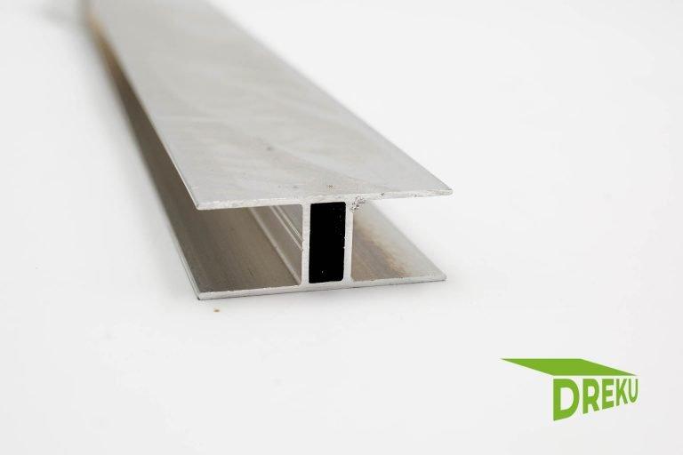 Aluminium H – Profil 16 mm mit Steg
