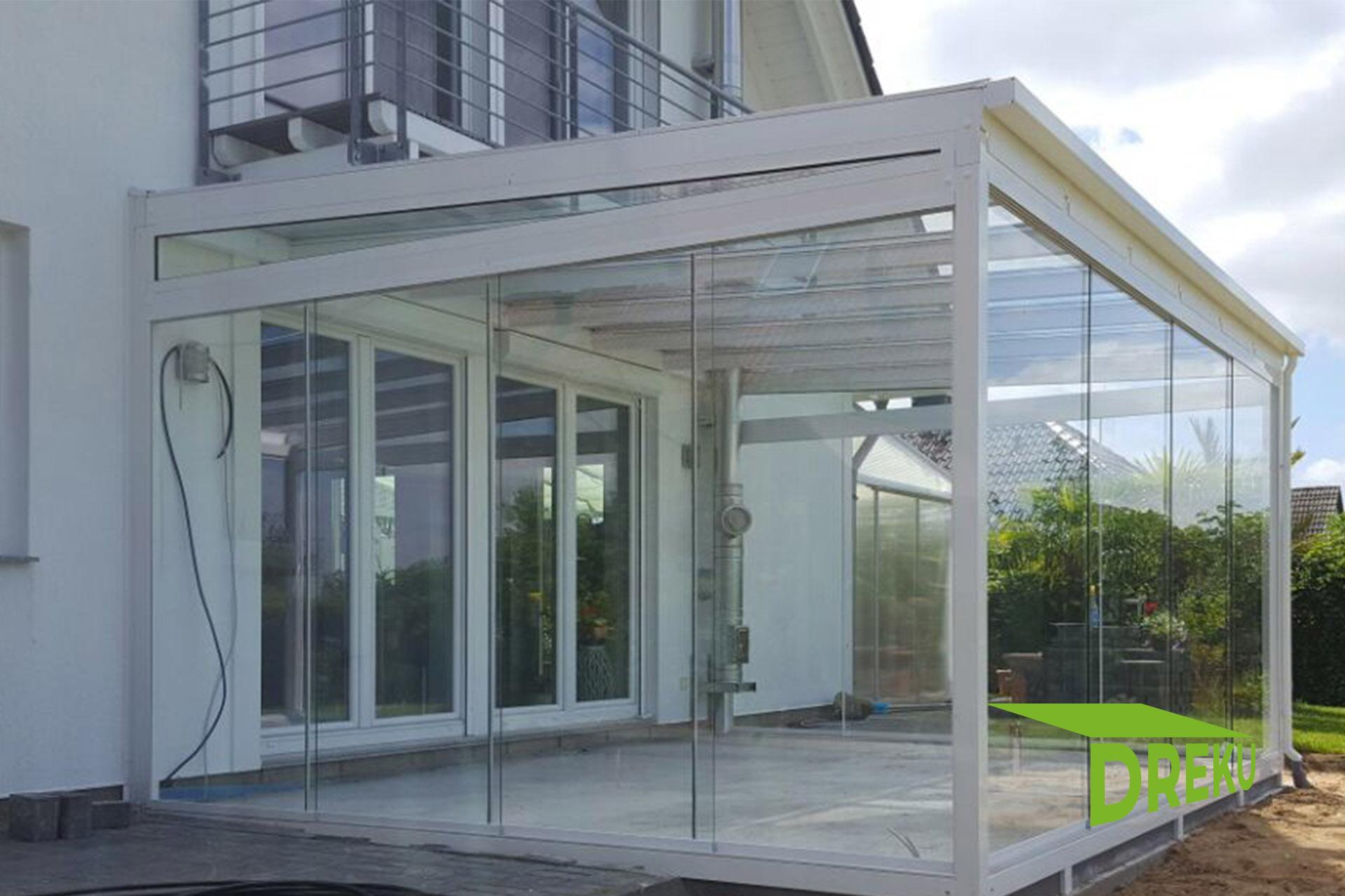 glasschiebewand aus esg glas dreku gmbh. Black Bedroom Furniture Sets. Home Design Ideas