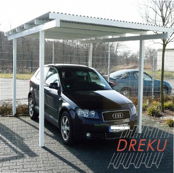 Carport aus Aluminium mit Aluminium Wellplatten