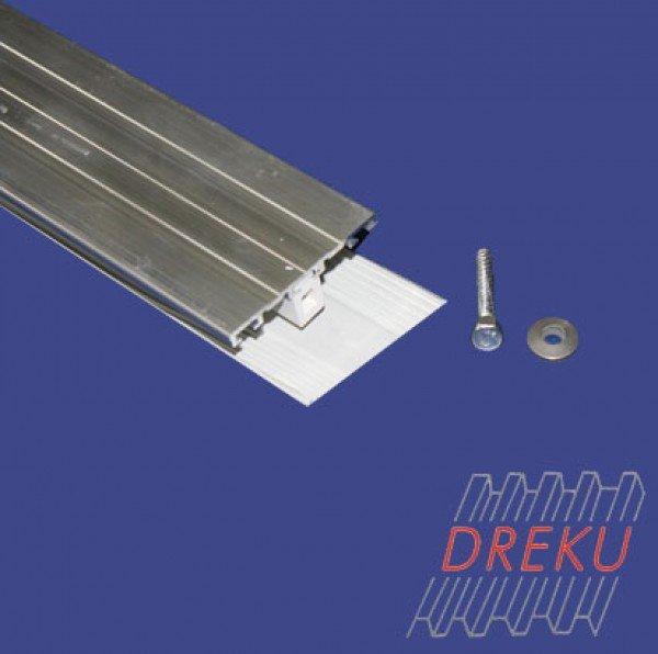 Verbinderprofil für Glasscheiben 8 oder 10 mm auf Metall
