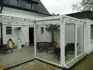 Terrassendach Aluminium, Glasschiebewand, kunststoffhandel24.de, dreku, terrasse