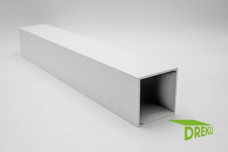 "Aluminium 4-Kant 8080 ""weiß"""