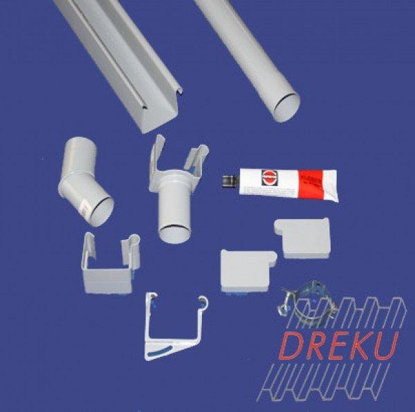 Kunststoff-Kastenrinne NW68 Komplettset