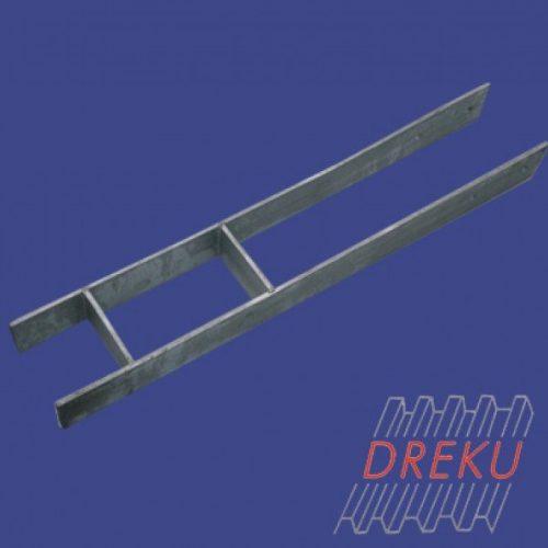 Pfostenträger H-Form 120 mm